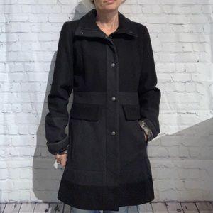 Guess Women's Black + Grey Wool Jacket Size Small